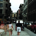 Two People Walking, Old Montreal, 2001